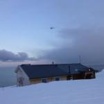 Frostrøyk over fjorden og en russer i lufta :)